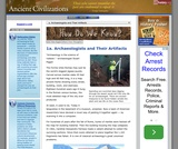 1a. Archaeologists and Their Artifacts