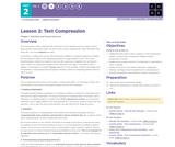 CS Principles 2019-2020 2.2: Text Compression