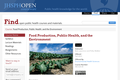 Food Production, Public Health, and the Environment