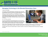 Managing Technology in the Blended Elementary Class