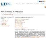 Oral Proficiency Interview