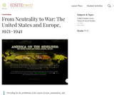 From Neutrality to War: The United States and Europe, 1921-1941