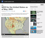 NDVI for the United States as of May, 2002