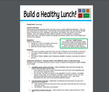 Health Literacy: Build a Healthy Lunch (Elementary)