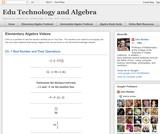 Beginning Algebra Videos