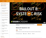Financial Bailout 8: Systemic Risk