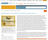 Staking Claims: The Gold Rush in Nineteenth-Century America