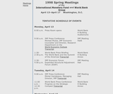 1998 Spring Meetings of the International Monetary Fund and World Bank Group