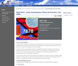 Data Visualization Theory & Practice