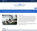 Technologies for Sustainability Systems
