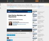 Data Sharing, Mandates, and Repositories