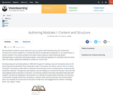 Authoring Modules I: Content and Structure