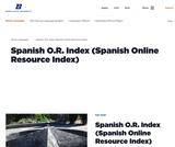 Spanish O.R. Index (Spanish Online Resource Index)