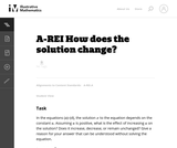 How does the solution change?