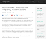 Job Interviews: Guidelines and Frequently Asked Questions
