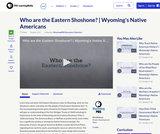 Who are the Eastern Shoshone?