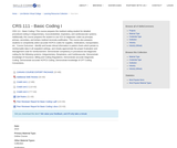 CRS 111 - Basic Coding 1