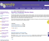 Genetics Vocabulary Review Game