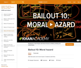 Financial Bailout 10: Moral Hazard