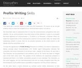 Profile Writing Skills - EklavyaParv
