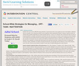 School-Wide Strategies for Managing Off-Task / Inattention