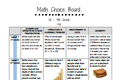 Math Choice Boards: 1st - 4th Grade (Fall Edition)