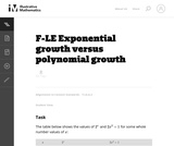 Exponential Growth Versus Polynomial Growth