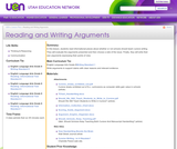 Reading and Writing Arguments