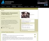 Mathematics Assessment: A Video Library