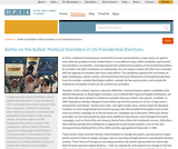 Battle on the Ballot: Political Outsiders in US Presidential Elections