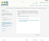 How to Publish an Articulate Project onto Google Drive and View it on the Web
