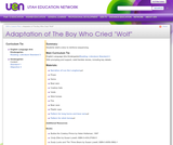 "Adaptation of The Boy Who Cried ""Wolf"""