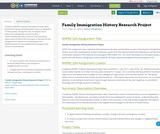 Family Immigration History Research Project
