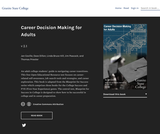 Career Decision Making for Adults