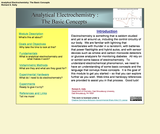 Analytical Electrochemistry: Basic Concepts