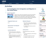 An Investigation Into Immigration and Migration in the United States