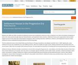 Settlement Houses in the Progressive Era