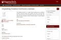 Unpacking Creative Commons Licenses