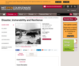 Disaster, Vulnerability and Resilience, Spring 2005