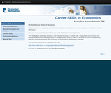 Career skills in economics
