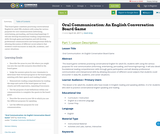 Oral Communication: An English Conversation Board Game