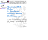 Quantitative Skills Module for Introduction to Human Services