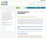 One World Essay: Final Draft