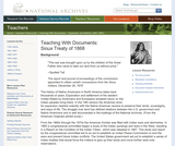 The Sioux Treaty of 1868