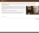 Collections of the Iowa Rural Schools Museum of Odebolt 1870-1950 - Morning Routines
