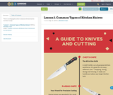 Lesson 1. Common Types of Kitchen Knives