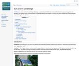 صفحة الويكي الخاصة بمشروع تحدي تصميم المنحنى الشمسي والتابعة لمعهد دراسات إدارة المعرفة في التعليم