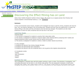 Discovering the Effect Mining has on Land
