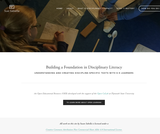 Building a Foundation in Disciplinary Literacy