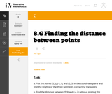 8.G Finding the distance between points